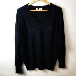 Vintage Christian Dior Black V Neck Sweater Large